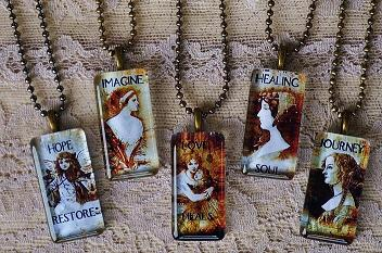 INSPIRATIONAL VINTAGE GLASS PENDANTS- COLLECTION A