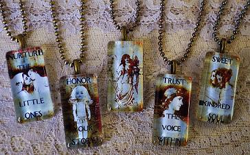 INSPIRATIONAL VINTAGE GLASS PENDANTS- COLLECTION B