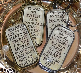 Poetry Pendants