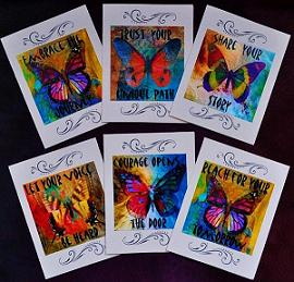 BUTTERFLY JOURNEY GREETING CARD SET