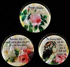 Glass Stone Magnet Set A